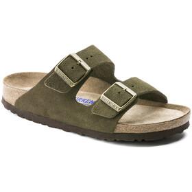 Birkenstock Arizona SFB Sandals Suede Leather Women green